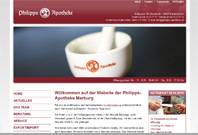 Website der Philipps-Apotheke Marburg